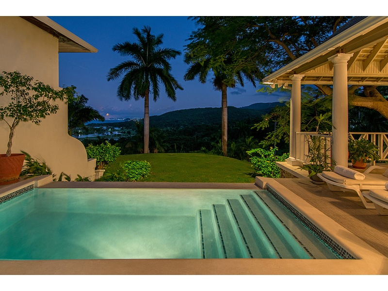step from your master bedroom into the plunge pool for the fabulous views of Montego Bay night or day!