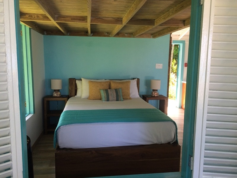 Brand new queen bedroom with views of the sea straight ahead!