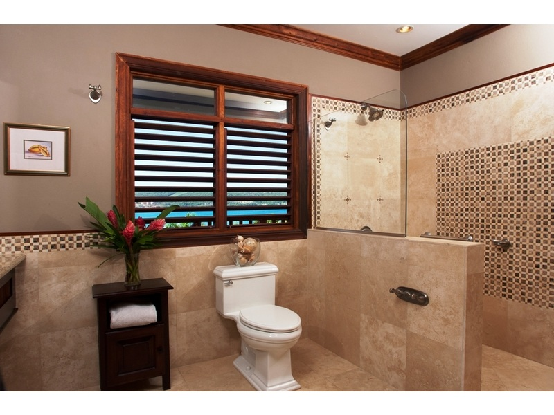 Bathroom in the Papaya bedroom with large walk in shower