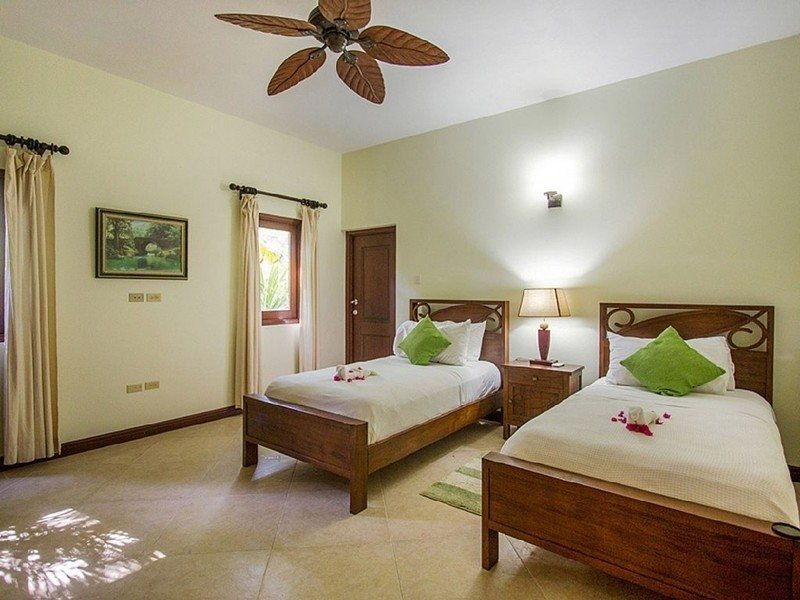 Bedroom in main villa can be two twins or one king bed